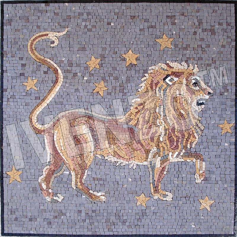 Mosaic FK011 Details sign of the zodiac leo 2