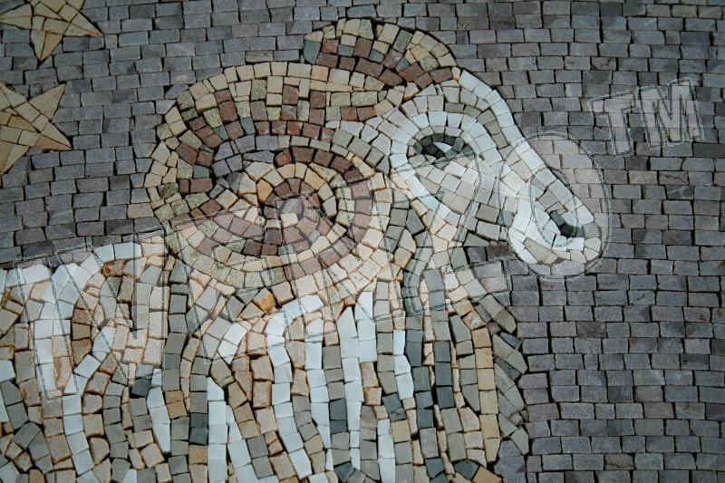 Mosaic FK019 Details sign of the zodiac aries 1