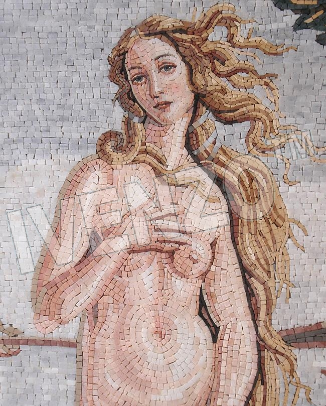 Mosaic FK029 Details Botticelli: Birth of Venus 1