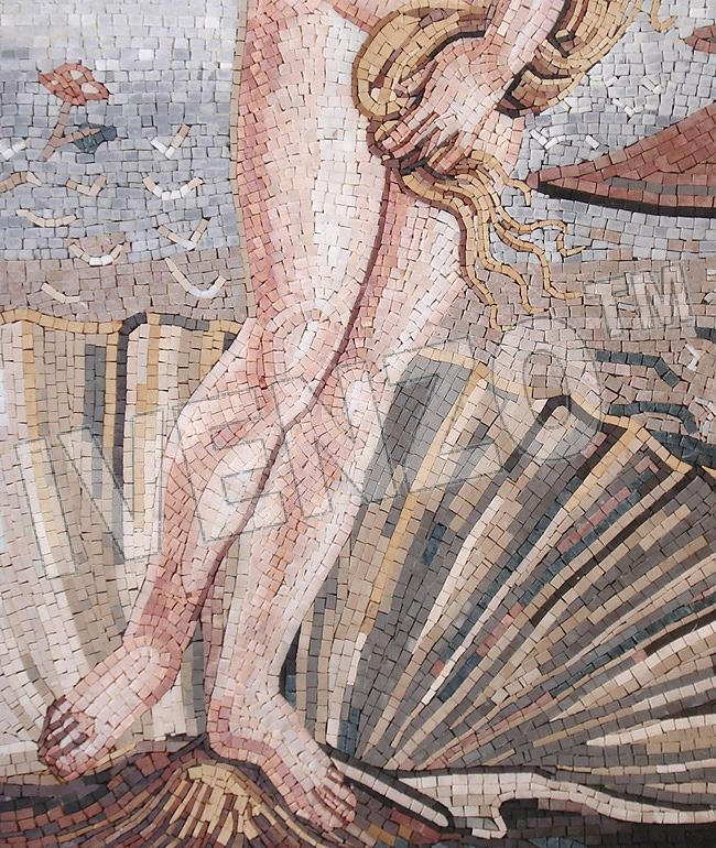 Mosaic FK029 Details Botticelli: Birth of Venus 2