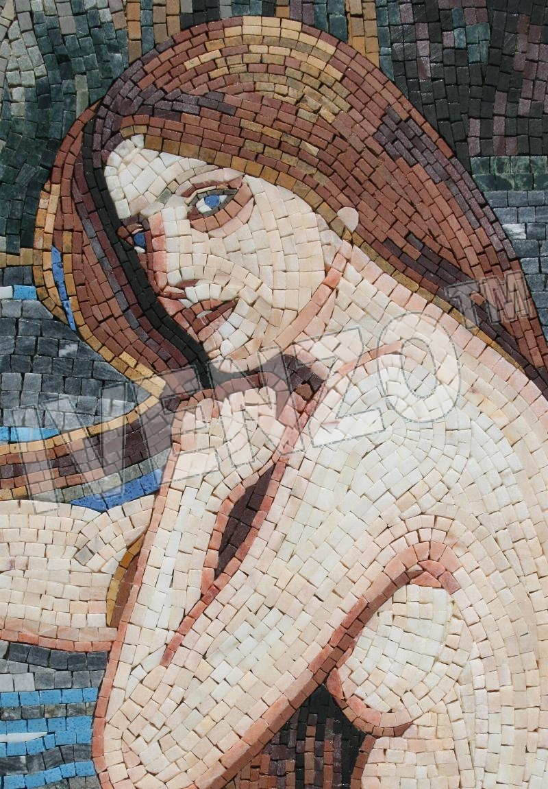 Mosaic FK055 Details Waterhouse: Mermaid 1