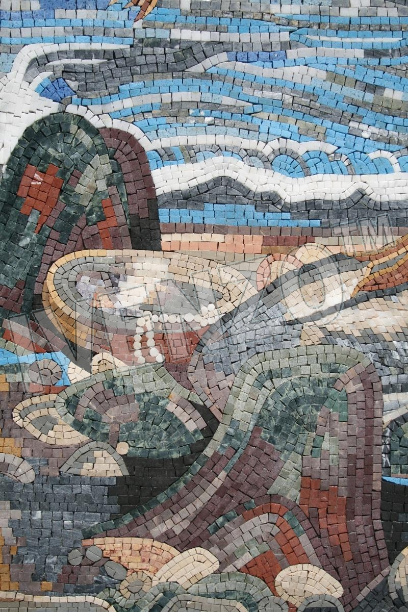 Mosaic FK055 Details Waterhouse: Mermaid 2