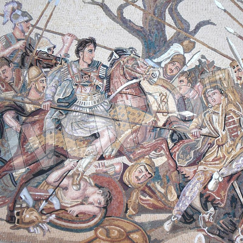 Mosaic FK081 Details Battle of Alexander at Issus 2