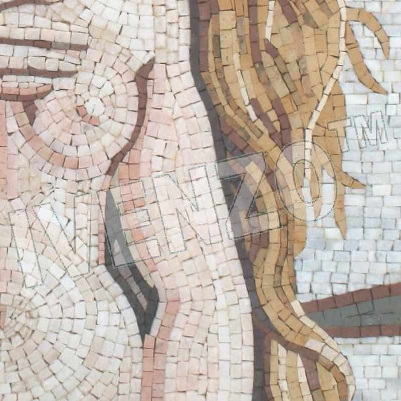 Mosaic FK091 Details Botticelli: Birth of Venus 2