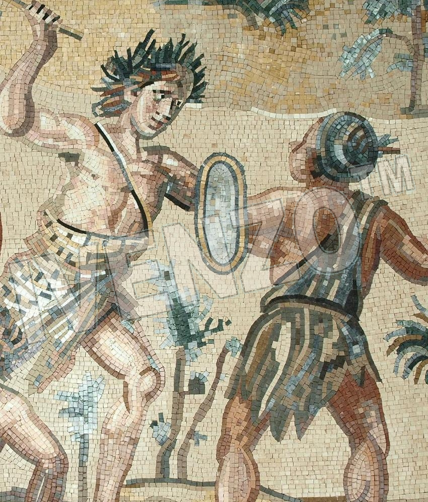 Mosaic FK118 Details Dionysos and the Indians 2
