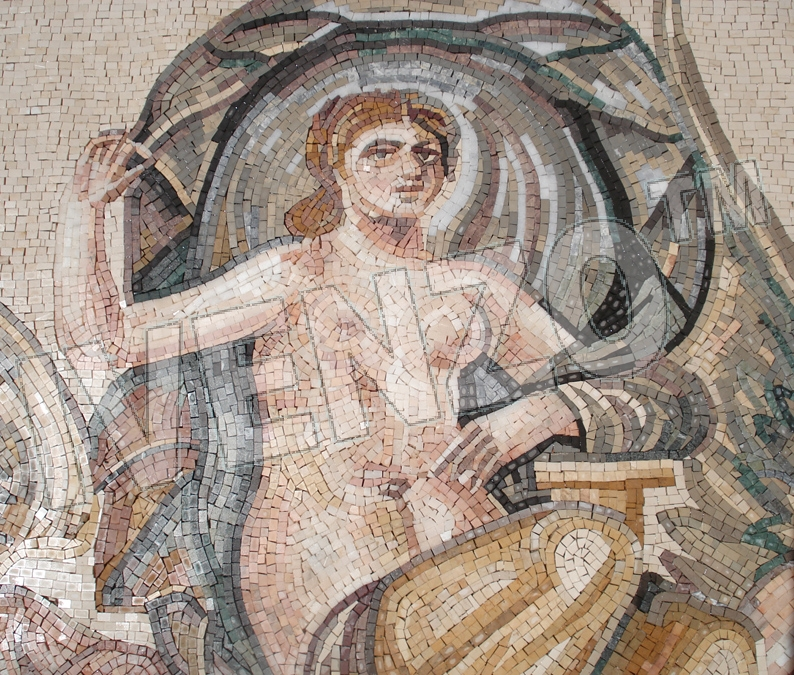 Mosaic FK120 Details Birth of Aphrodite / Venus 2