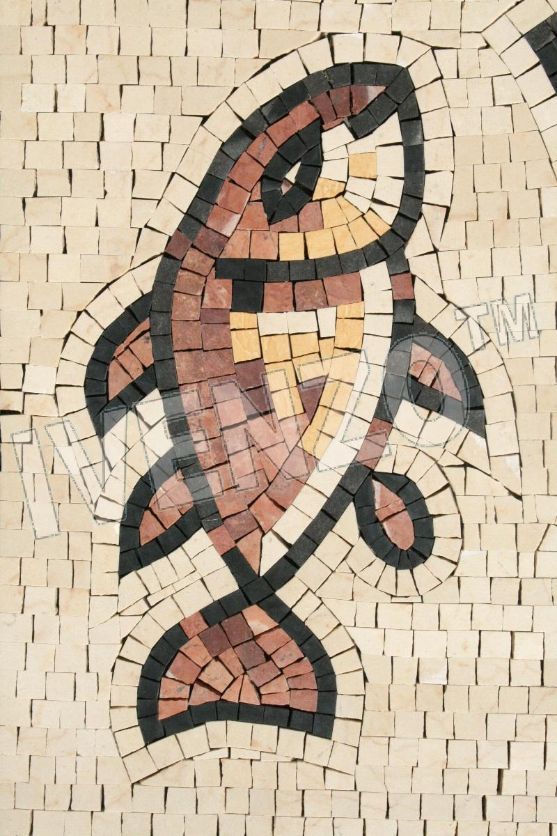 Mosaic FK123 Details Fish and Bread 1