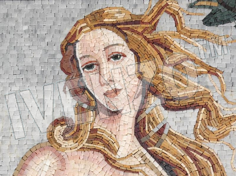 Mosaic FK125 Details Botticelli: Birth of Venus 1