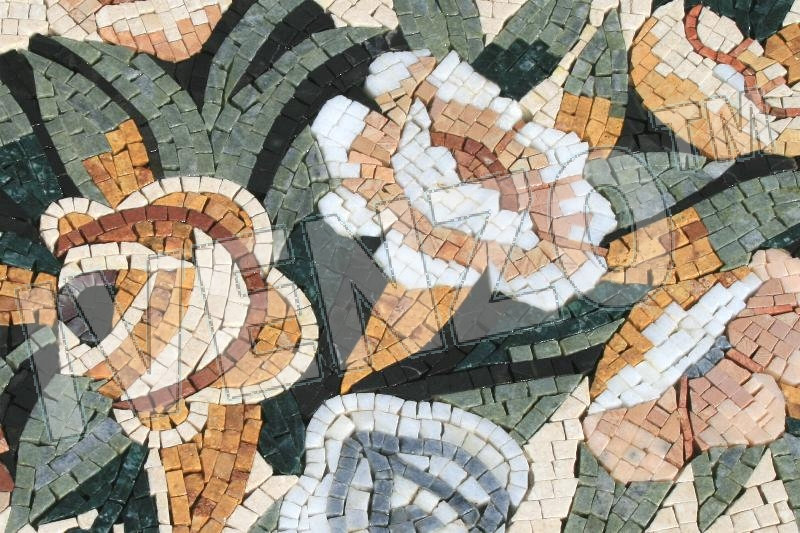 Mosaic GK034 Details carpet of flowers (diagonal) 1