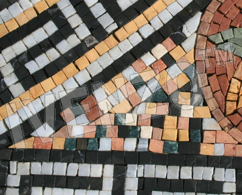 Mosaic GK034 Details carpet of flowers (diagonal) 2