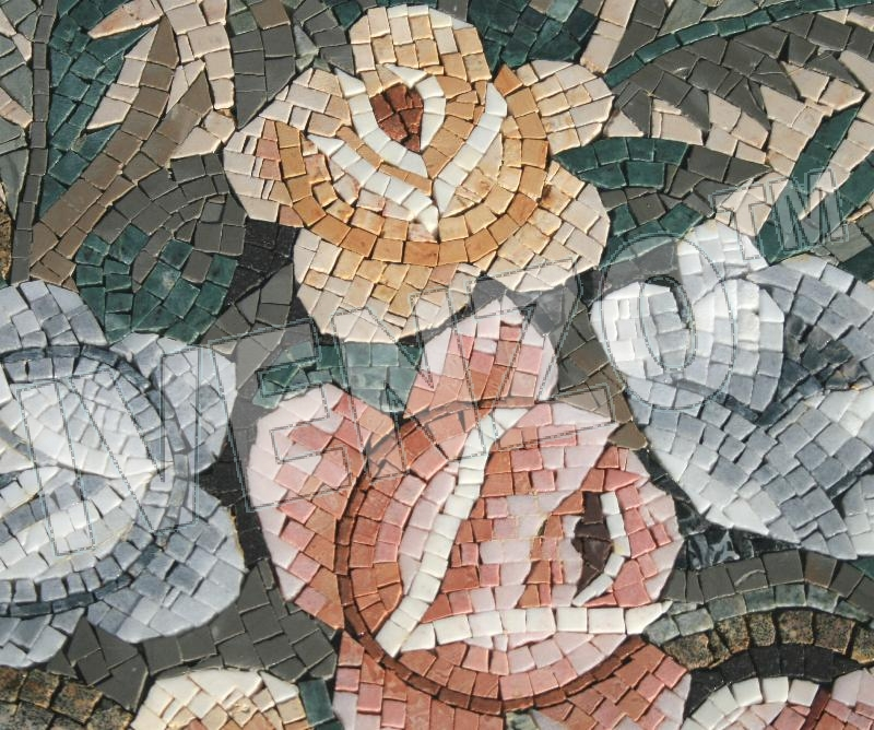 Mosaic MK069 Details flowers (topview) 1
