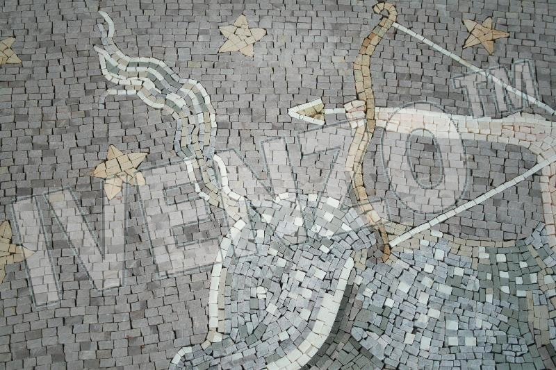 Mosaic FK015 Details sign of the zodiac sagittarius 2
