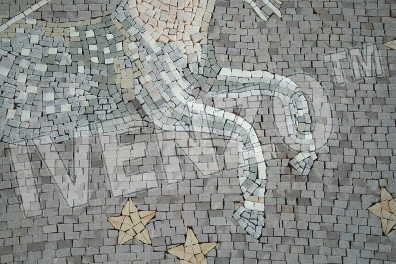 Mosaic FK015 Details sign of the zodiac sagittarius 3