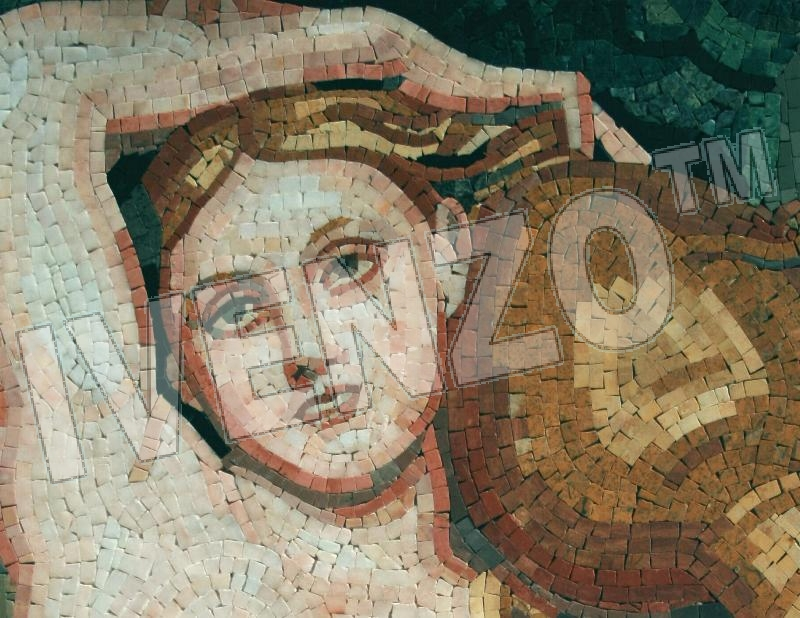Mosaic FK030 Details Ingres: The fountain 1