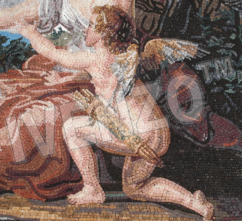 Mosaic FK102 Details Batoni: Diana and Cupid 3