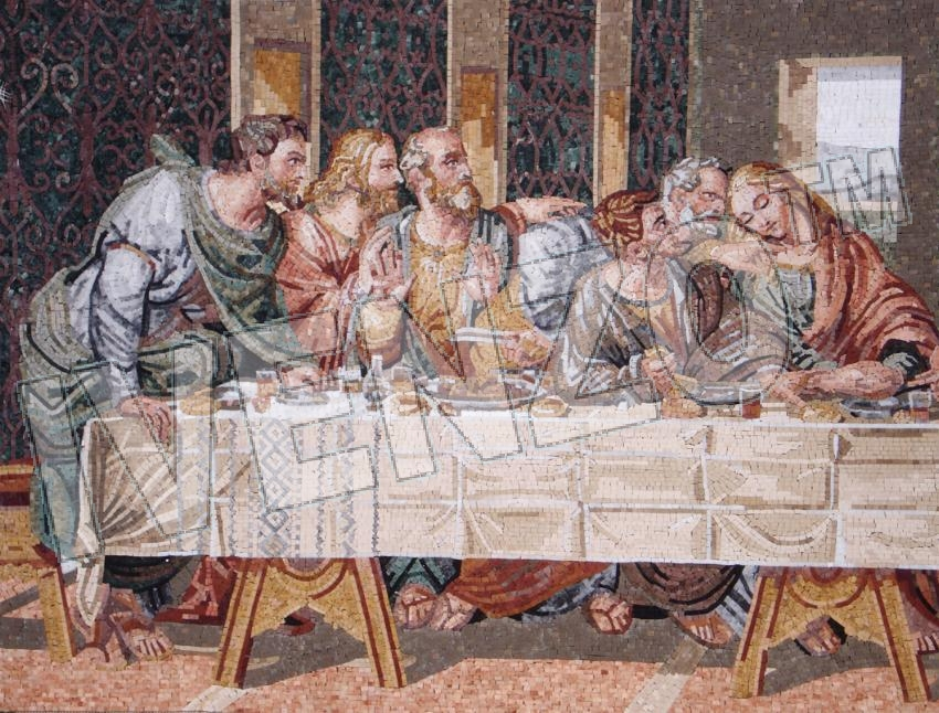 Mosaic FK110 Details Leonardo da Vinci: The last Supper 1