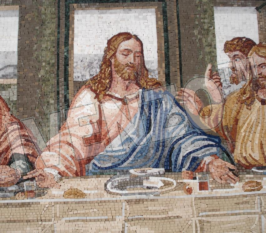 Mosaic FK110 Details Leonardo da Vinci: The last Supper 2