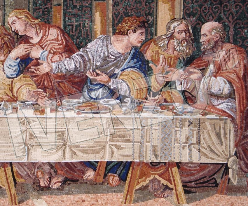 Mosaic FK110 Details Leonardo da Vinci: The last Supper 3