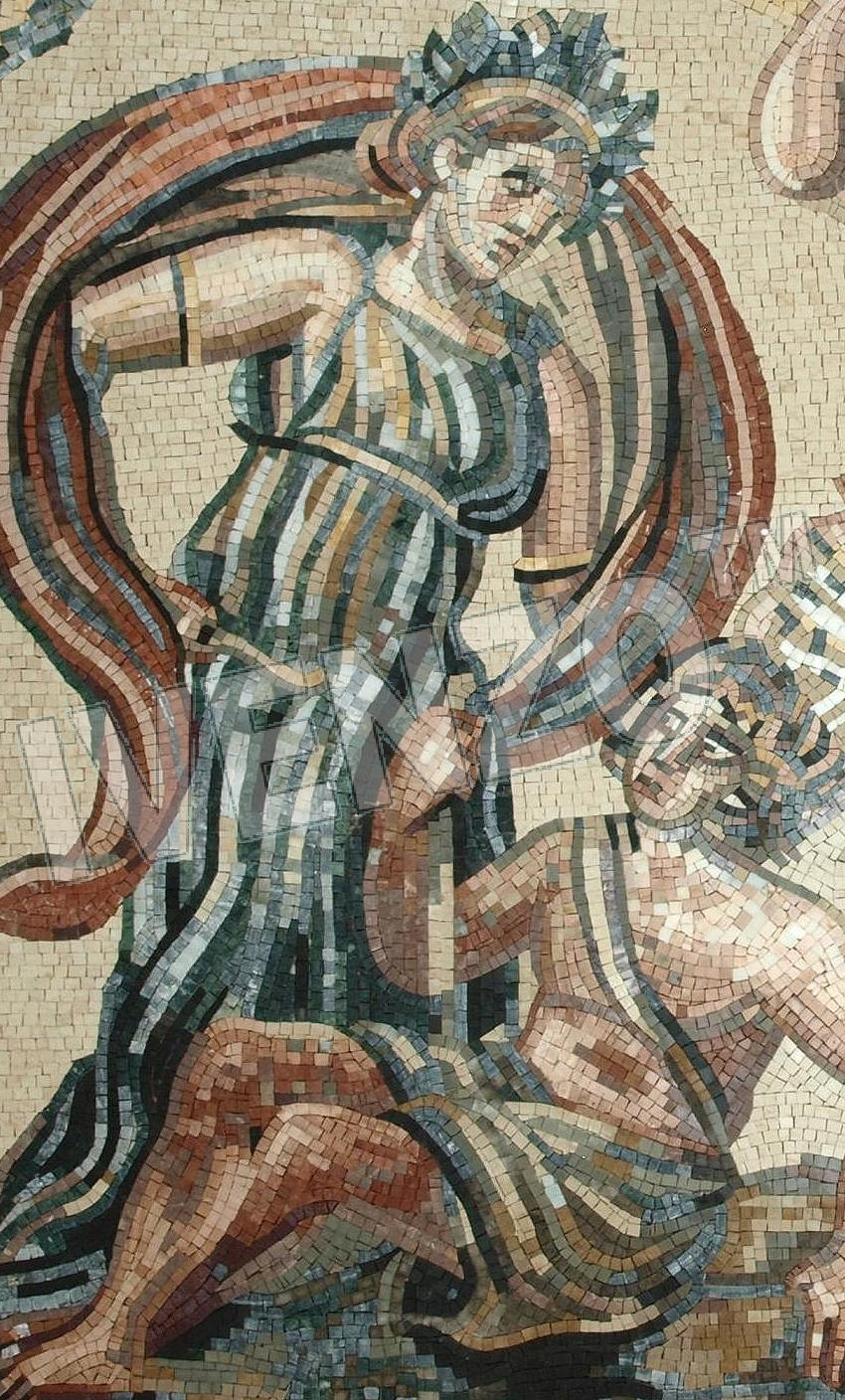 Mosaic FK118 Details Dionysos and the Indians 1