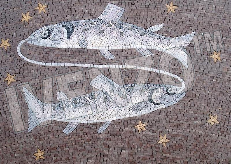 Mosaic FK018 sign of the zodiac pisces