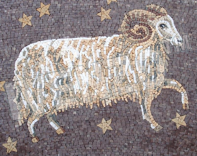 Mosaic FK019 sign of the zodiac aries