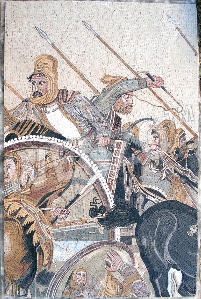 Mosaic FK028 Battle of Alexander at Issus