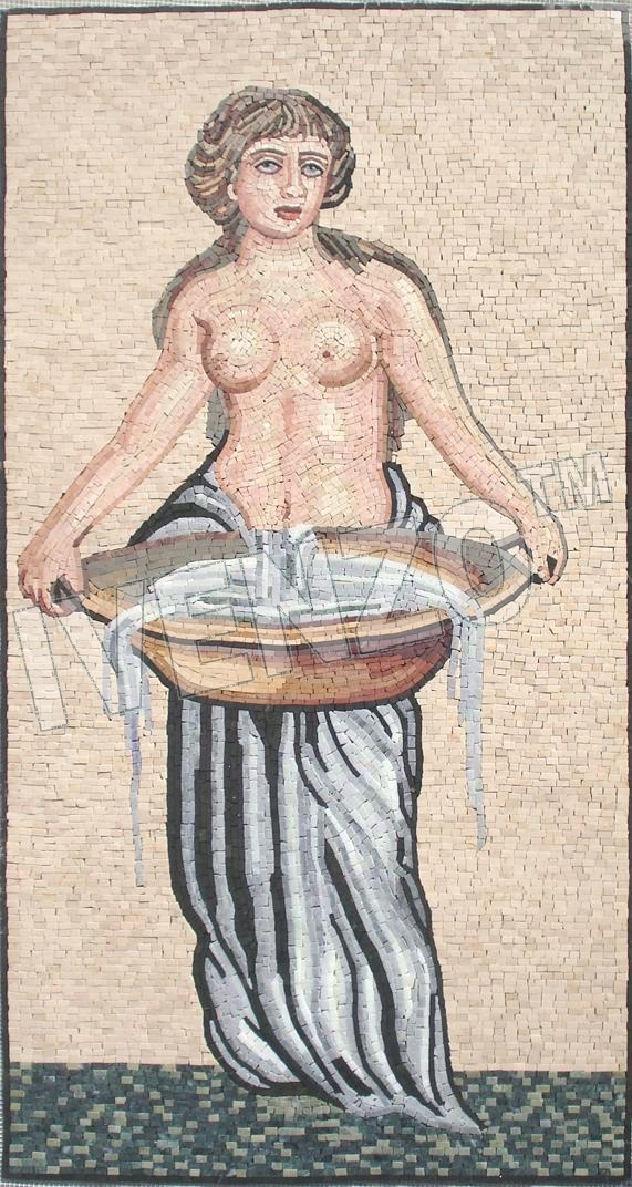 Mosaic FK047 Woman with Washbowl
