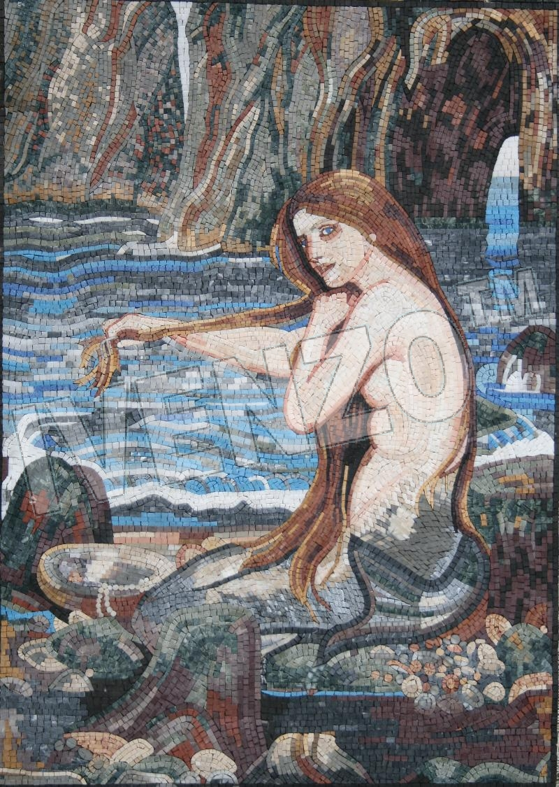 Mosaic FK055 Waterhouse: Mermaid