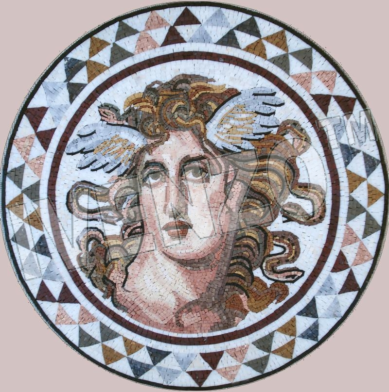 Mosaic FK105 Medusa from Athens