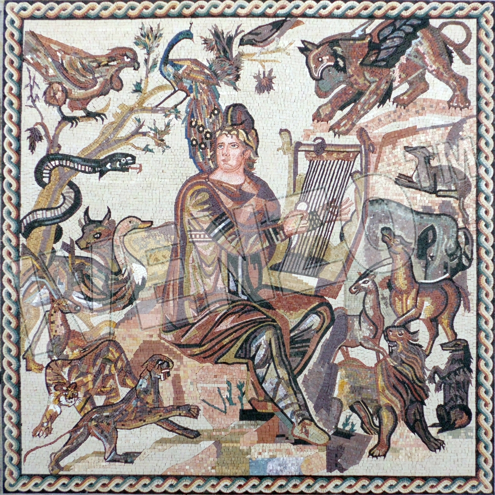 Mosaic FK117 Orpheus from Shahba