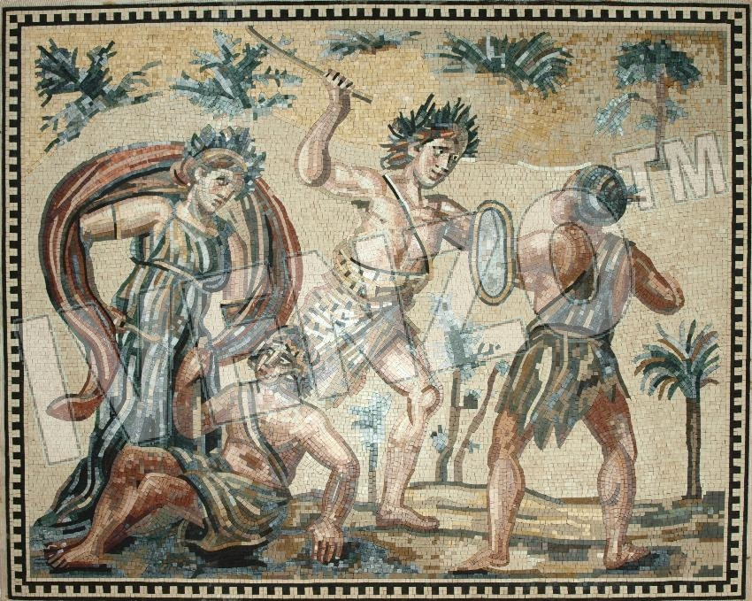 Mosaic FK118 Dionysos and the Indians