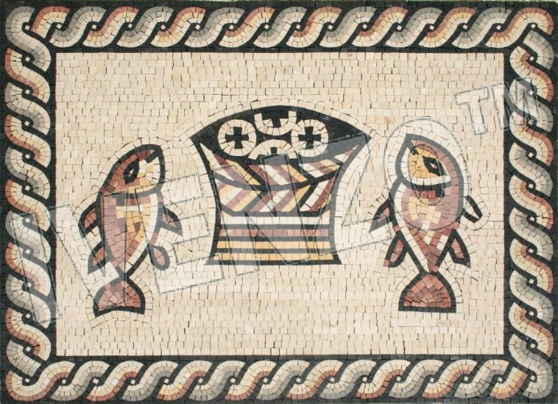 Mosaic FK123 Fish and Bread