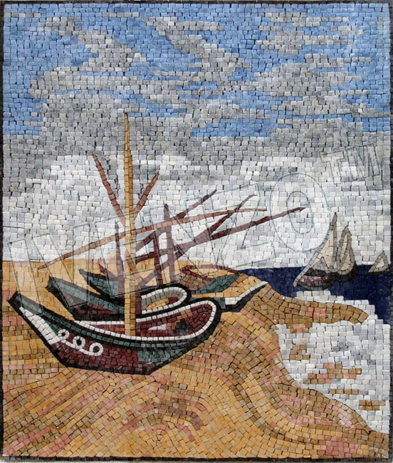 Mosaic GE250 Vincent van Gogh: Boats on the beach
