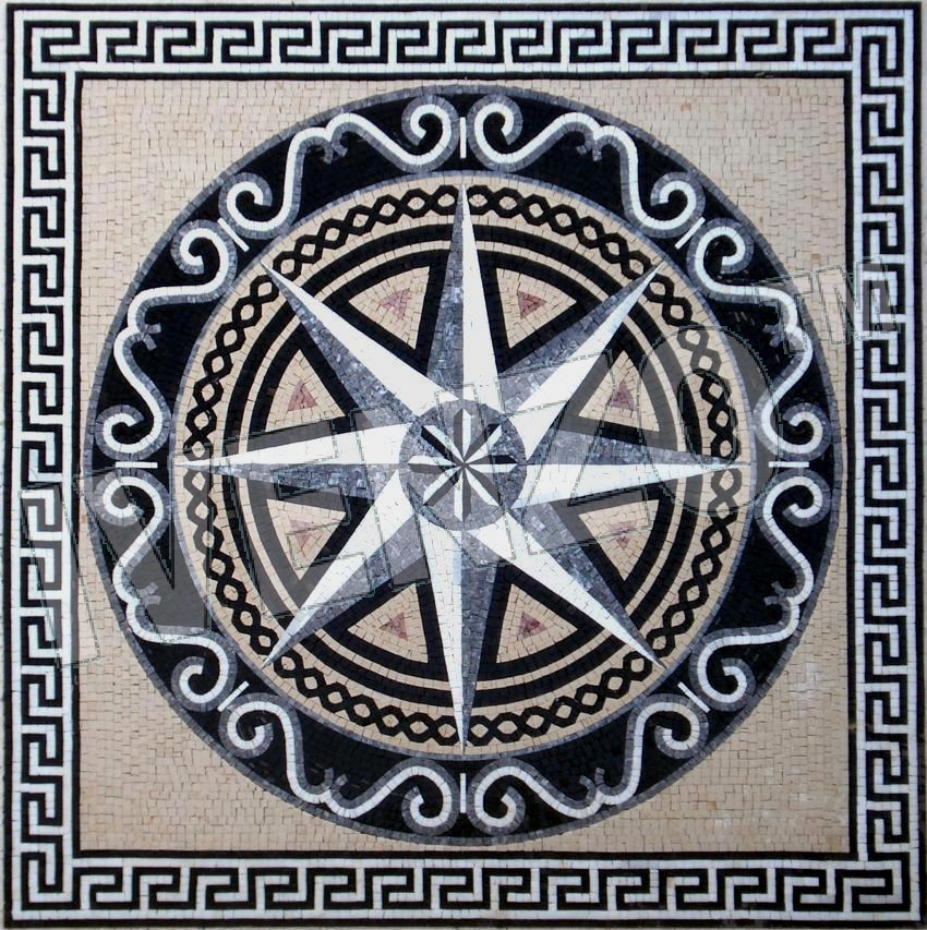 Mosaic GK065 Compass rose