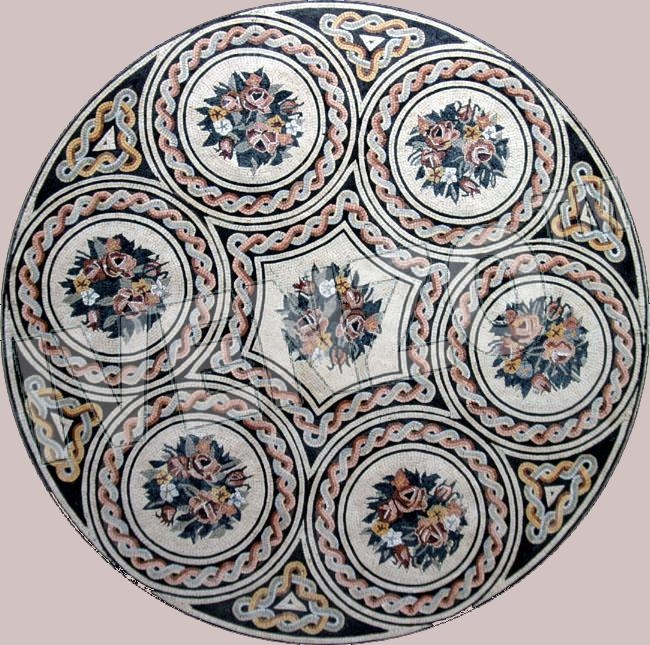 Mosaic MD153 floral medallion