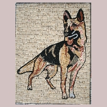 Mosaic german shepherd
