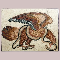Mosaic Eagle and snake