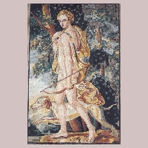 Mosaic Diana - Goddess of the Moon and Hunting