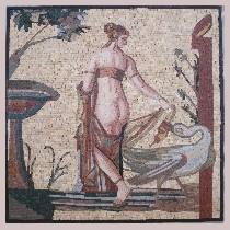 Mosaic Leda and the swan