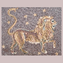 Mosaic sign of the zodiac leo