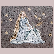 Mosaic sign of the zodiac virgo