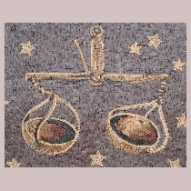 Mosaic sign of the zodiac libra