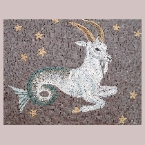 Mosaic sign of the zodiac capricorn