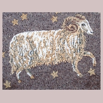 Mosaic sign of the zodiac aries