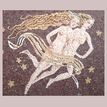Mosaic sign of the zodiac gemini