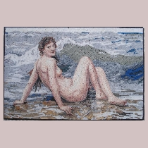 Mosaic Bouguereau: The Wave
