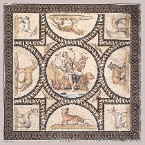 Mosaic Orpheus from Cheyres, Switzerland