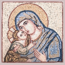 Mosaic Jesus and Maria