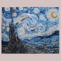 Mosaic van Gogh: Starry Night