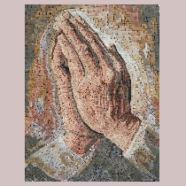 Mosaic Albrecht Dürer: Praying Hands